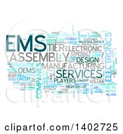 Clipart Of An EMS Tag Word Collage On White Royalty Free Illustration by MacX