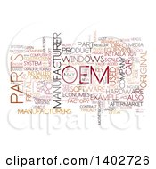 Clipart Of A Parts OEM Tag Word Collage On White Royalty Free Illustration