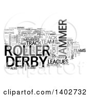 Roller Derby Tag Word Collage On White