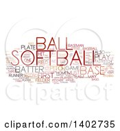 Poster, Art Print Of Softball Tag Word Collage On White