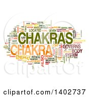 Clipart Of A Chakra Tag Word Collage On White Royalty Free Illustration