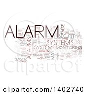 Security Alarm Tag Word Collage On White