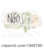 Clipart Of A NGOS Non Profit Organization Tag Word Collage On White Royalty Free Illustration