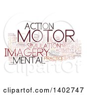 Motor Activity Tag Word Collage On White