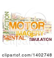 Clipart Of A Motor Activity Tag Word Collage On White Royalty Free Illustration by MacX