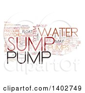 Clipart Of A Sump Pump Tag Word Collage On White Royalty Free Illustration by MacX