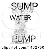 Sump Pump Tag Word Collage On White