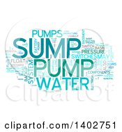 Clipart Of A Sump Pump Tag Word Collage On White Royalty Free Illustration