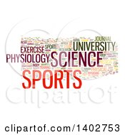 Clipart Of A Sports Science Tag Word Collage On White Royalty Free Illustration