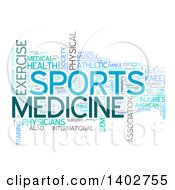 Sports Medicine Tag Word Collage On White