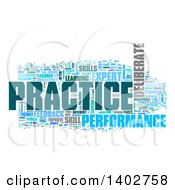 Clipart Of A Practice Tag Word Collage On White Royalty Free Illustration