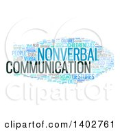 Clipart Of A Nonverbal Communication Tag Word Collage On White Royalty Free Illustration
