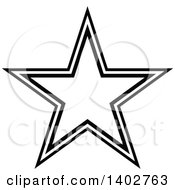 Clipart Of A Black And White Star Design Royalty Free Vector Illustration