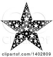 Clipart Of A Black And White Star Design Royalty Free Vector Illustration by dero
