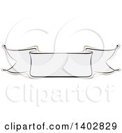 Clipart Of A Blank Calligraphic Ribbon Banner Design Element Royalty Free Vector Illustration by dero