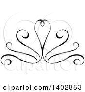 Black And White Swirl Calligraphic Design Element