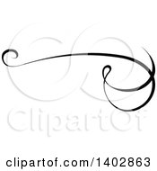Clipart Of A Black And White Swirl Calligraphic Design Element Royalty Free Vector Illustration by dero