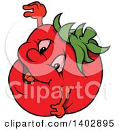 Cartoon Tomato Character