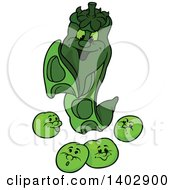 Cartoon Pea Family