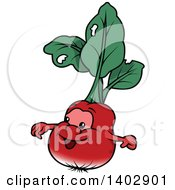 Cartoon Happy Radish Character