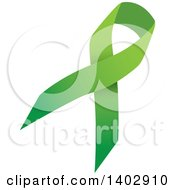 Clipart Of A Lime Green Awareness Ribbon Royalty Free Vector Illustration