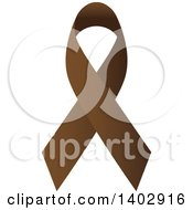Clipart Of A Brown Awareness Ribbon Royalty Free Vector Illustration