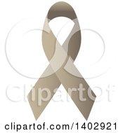 Clipart Of A Tan Awareness Ribbon Royalty Free Vector Illustration