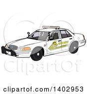 White Sheriff Police Car