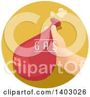 Clipart Of A Childs Hand Holding A Balloon Filled With Gas Royalty Free Vector Illustration