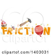 Clipart Of A Friction Word Design Royalty Free Vector Illustration by BNP Design Studio