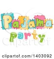 Colorful Pajama Party Design