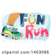 Clipart Of A Foot Of A Runner With Fun Run Text Royalty Free Vector Illustration