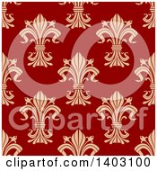 Clipart Of A Seamless Background Pattern Of Fleur De Lis Royalty Free Vector Illustration by Vector Tradition SM
