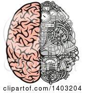 Half Human Half Data Processing Center Brain