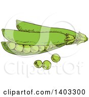 Clipart Of Sketched Peas Royalty Free Vector Illustration by Vector Tradition SM