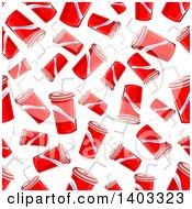 Clipart Of A Seamless Background Pattern Of Fountain Sodas Royalty Free Vector Illustration by Vector Tradition SM