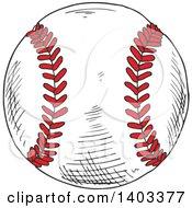 Poster, Art Print Of Sketched Baseball