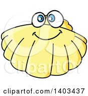 Clipart Of A Cartoon Happy Scallop Royalty Free Vector Illustration by Vector Tradition SM
