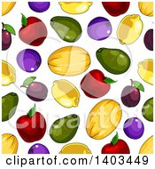 Clipart Of A Seamless Background Pattern Of Fruit Royalty Free Vector Illustration by Seamartini Graphics