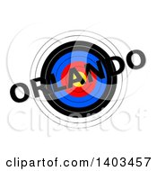 Clipart Of A Target With Orlando Text Over It On A White Background Royalty Free Illustration by oboy