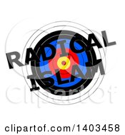 Clipart Of A Target With Radical Islam Text Over It On A White Background Royalty Free Illustration by oboy