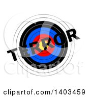 Target With Terror Text Over It On A White Background
