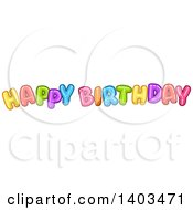 Colorful Happy Birthday Text