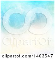 Clipart Of A Blue And Tan Watercolor Background Royalty Free Vector Illustration by KJ Pargeter