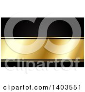 Clipart Of A Black And Gold Website Background Or Business Card Design With Text Space Royalty Free Vector Illustration