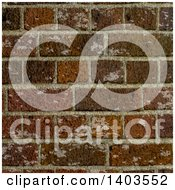 Clipart Of A Worn Brick Wall Background Royalty Free Vector Illustration by KJ Pargeter