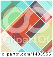 Clipart Of A Retro Abstract Colorful Geometric Background Royalty Free Vector Illustration