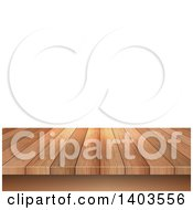 Clipart Of A Wood Deck Over White Royalty Free Vector Illustration