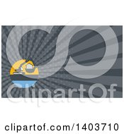 Clipart Of A Retro Mechanical Digger Machine Moving A House And Gray Rays Background Or Business Card Design Royalty Free Illustration by patrimonio