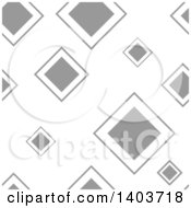 Clipart Of A Retro Seamless Grayscale Pattern Background Of Diamonds Royalty Free Vector Illustration